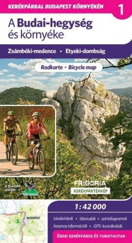 A Budai-hegység és környéke - kerékpártérkép - 1:42 000