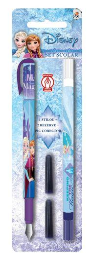 Bliszter Töltőtoll, irídium hegyű + 1 javítótoll + 2 tintapatron, Disney Frozen