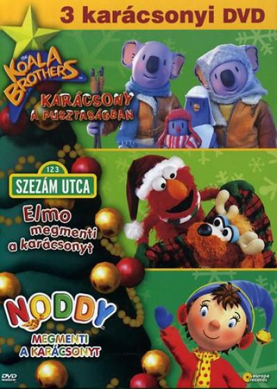 3 karácsonyi DVD - Koala, Noddy, Elmo - díszdoboz